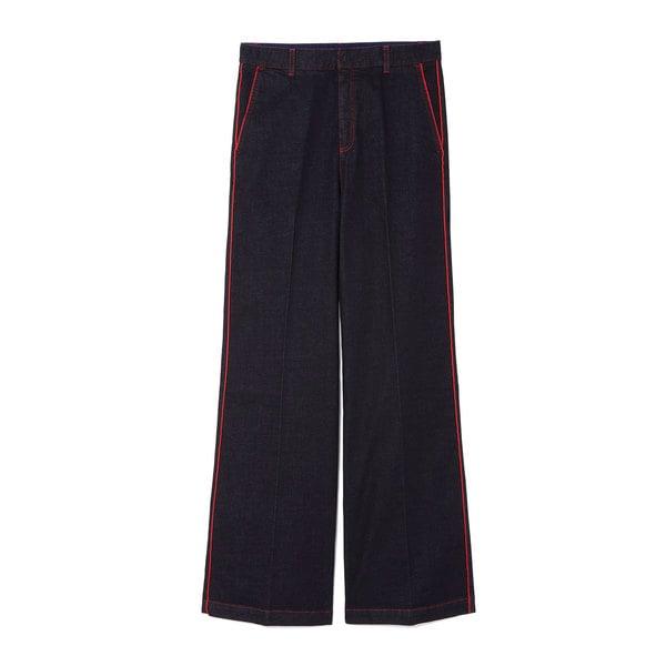 Stella McCartney Wide-Leg Raw Denim Trousers