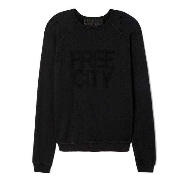 Free City Superthrasher Destroyed Raglan Sweatshirt
