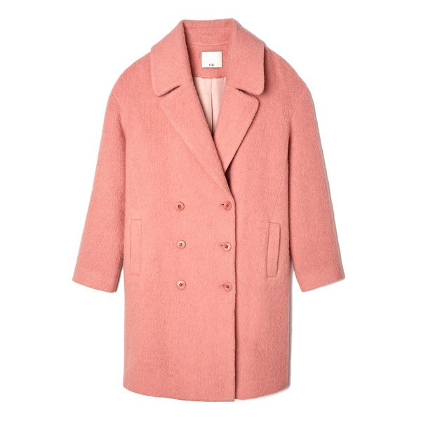 Tibi Luxe Mohair Double-Breasted Coat