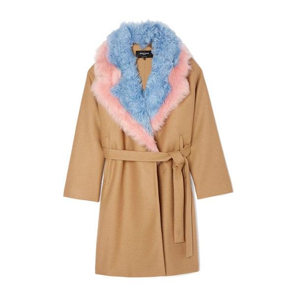 Rochas Naro Coat With Collar