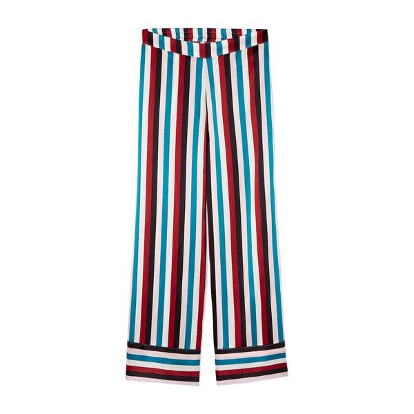 Asceno Striped Silk PJ Bottom