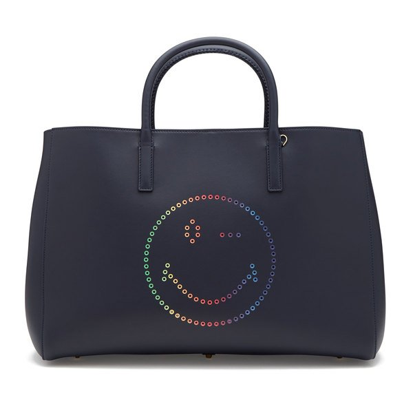 Anya Hindmarch Ebury Maxi Tote With Rainbow Wink In Circus