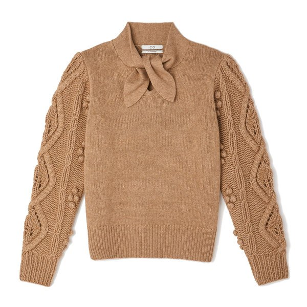 Co Tie-Neck Wool-Cashmere Sweater