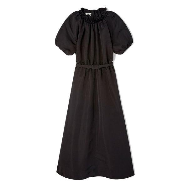 Co Short-Sleeve Faille Dress