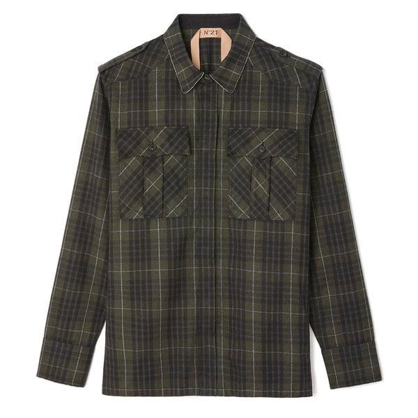 No. 21 Plaid Button-Down Shirt