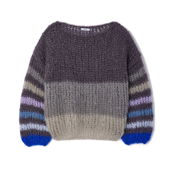 Maiami Striped Mohair Sweaterblouse
