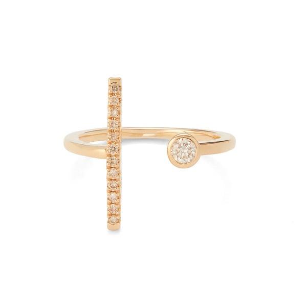 Hirotaka Gossamer Short Diamond Ring