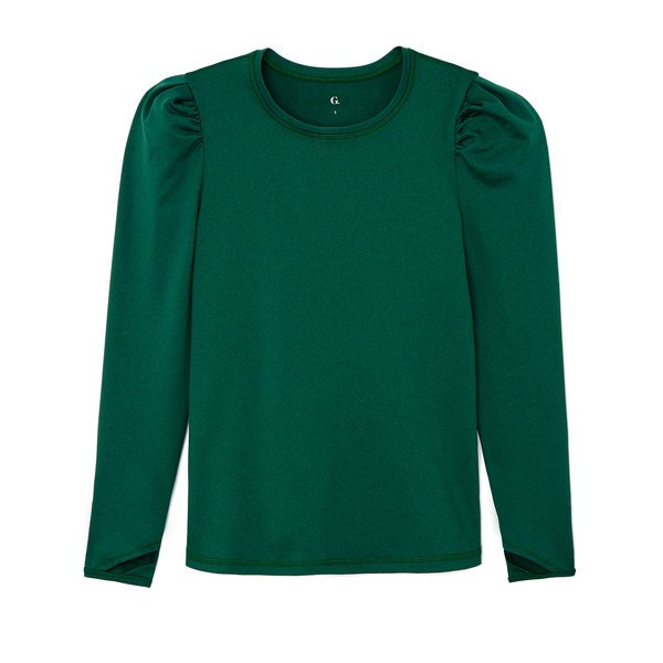 G. Sport Brushed Long-Sleeve Puff Tee
