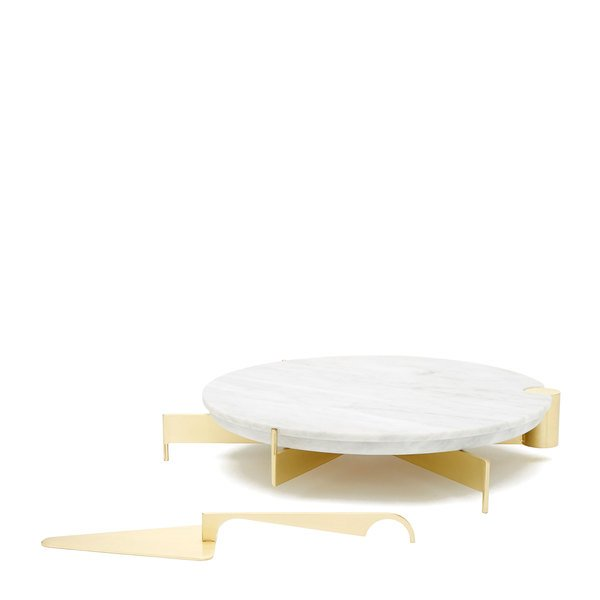 Grace Souky  Marble Cake Stand & Server Set
