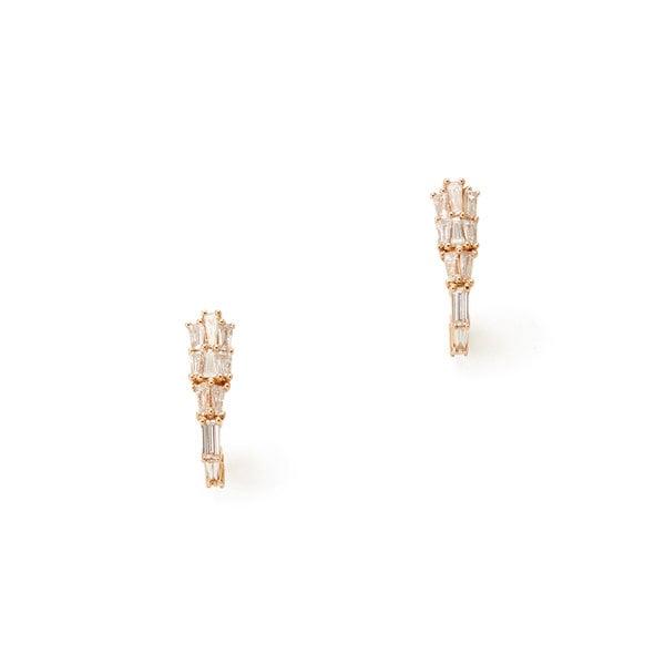 Nak Armstrong Rose-Gold Diamond Earring Clips