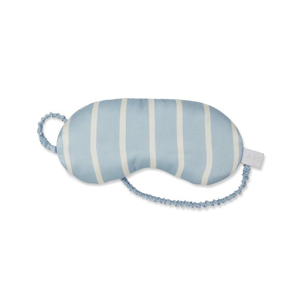 Asceno goop-Exclusive Striped Silk Eye Mask