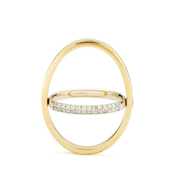 KATKIM Echo Yellow Gold Diamond Ring