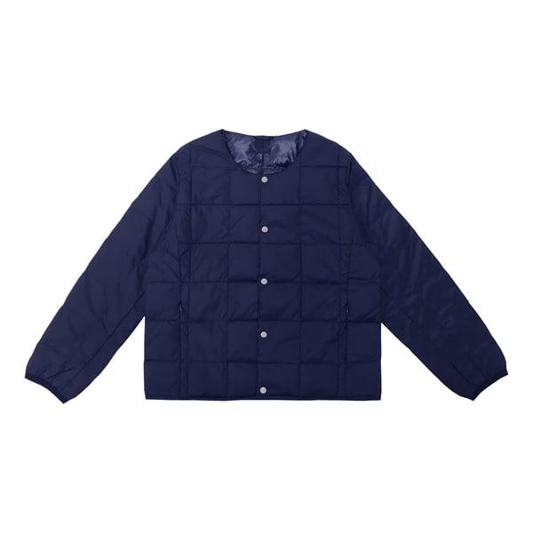 Taion Crew-Neck Button-Down Jacket Kids