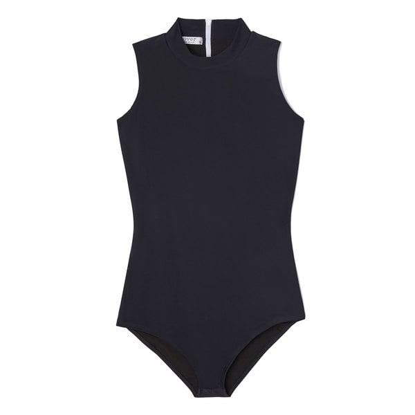 Cover High-Neck Sleeveless Swimsuit