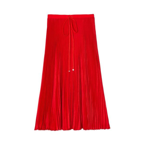 Tibi Mendini Twill Pleated Skirt