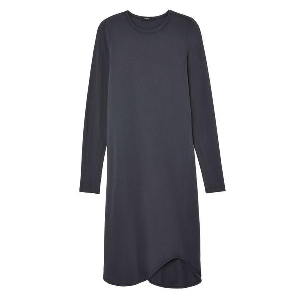 Bassike French Seam Long-Sleeve Dress