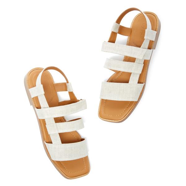BY FAR Shoes Elio Linen Sandals