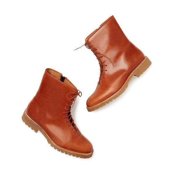 JJ Gray  Peter Leather Lace-Up Boots
