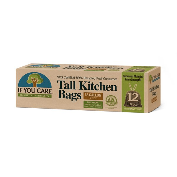 If You Care  Recycled Tall Kitchen Bags, 13 gal