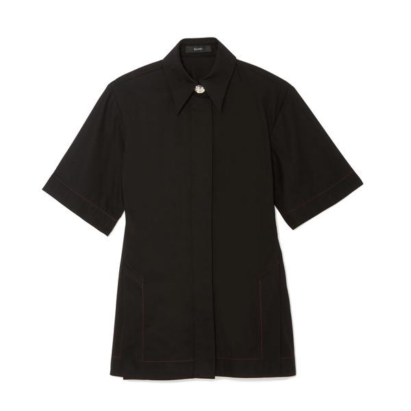 Ellery Rallets Short-Sleeve Cotton Shirt