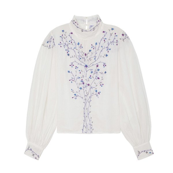 Thierry Colson Teresa Embroidered Blouse