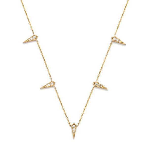 Lizzie Mandler 5-Kite Yellow-Gold Diamond Necklace