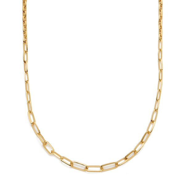 Lizzie Mandler Graduated Knife Edge Oval Link Chain Necklace