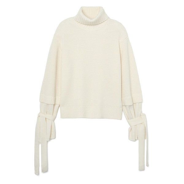 Mother of Pearl The Chunky Two-in-One Jumper