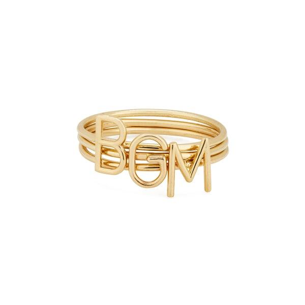 Sarah Chloe Amelia Stackable ID Yellow-Gold Ring
