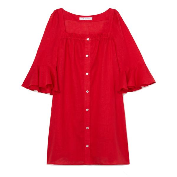 Sleeper Jane Linen Mini Dress