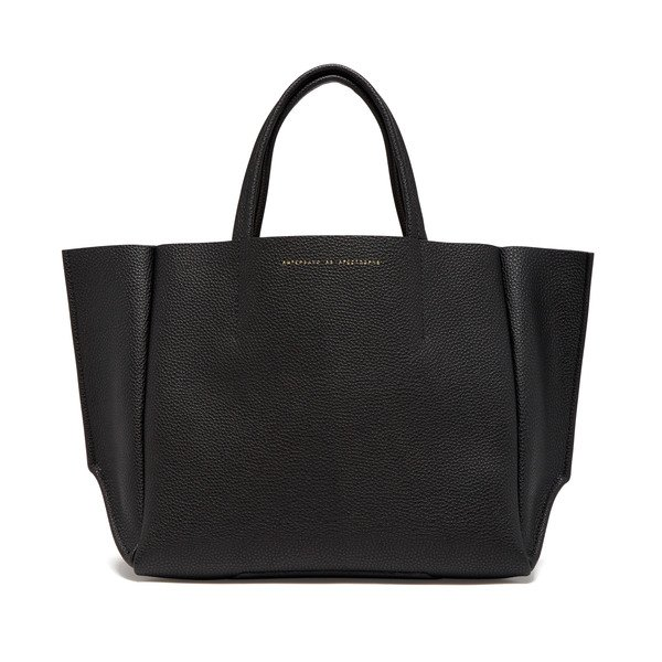 Ampersand As Apostrophe Leather Half Tote