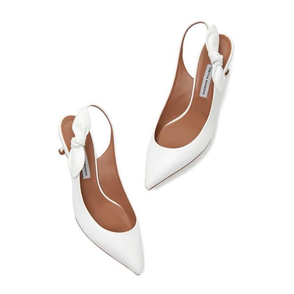 Tabitha Simmons Rise Bow-Tie Slingback Heels