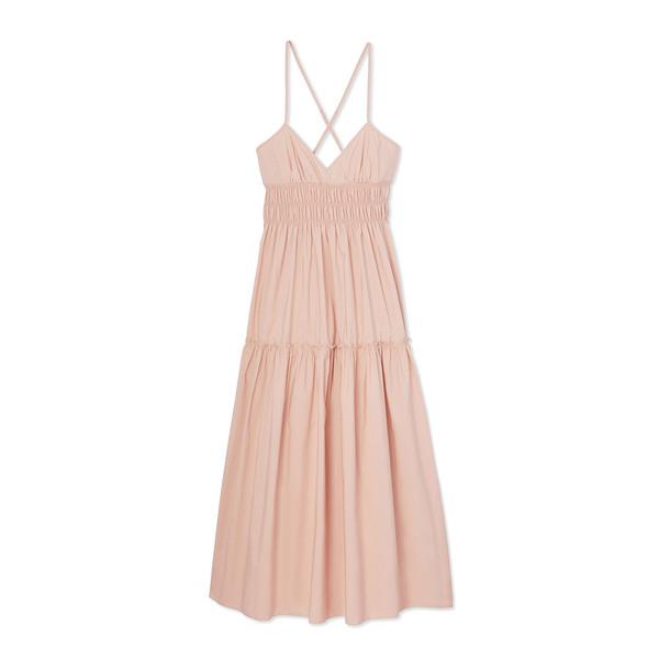 Three Graces Emma Poplin Tiered Dress