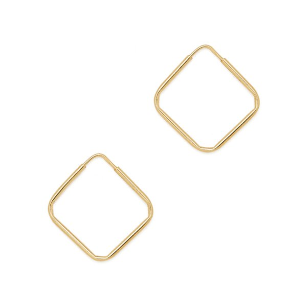 Loren Stewart Square Infinity Yellow-Gold Hoops