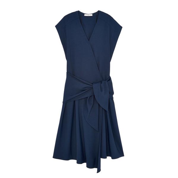 Tibi Chalky Drape Sleeveless Wrap Dress