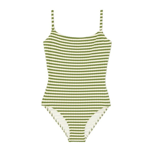 Solid & Striped The Nina Grass Ribbed One-Piece