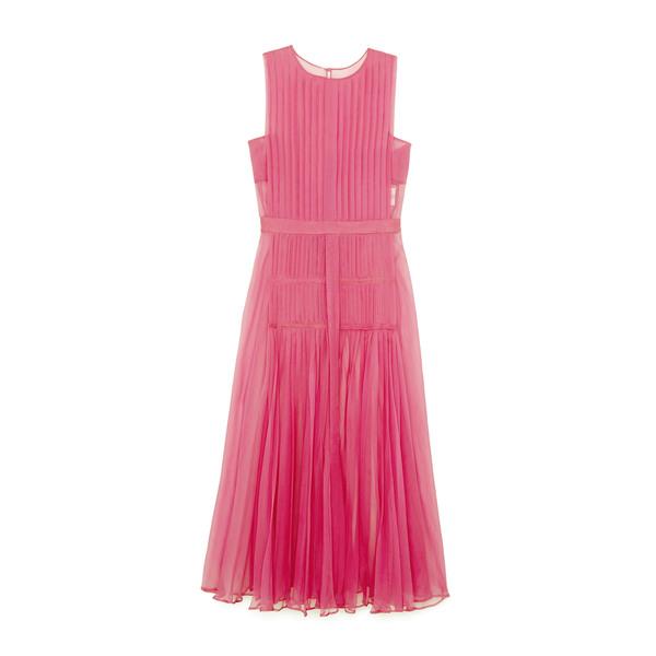 No. 21 Pleated Chiffon Dress