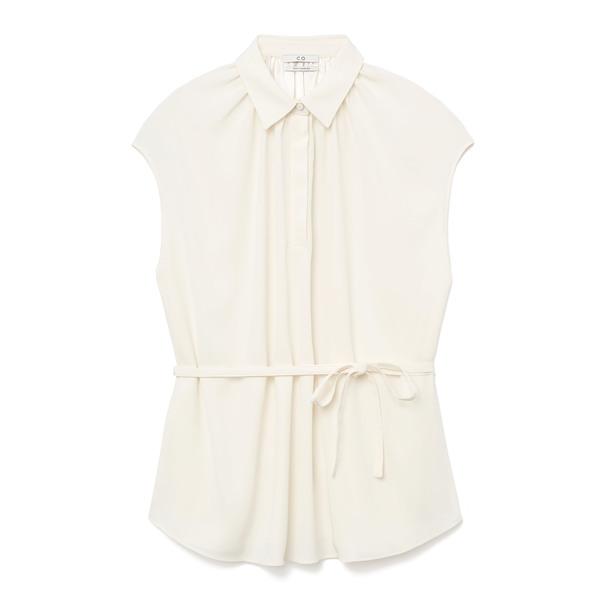 Co Silk Crepe Ivory Shirt