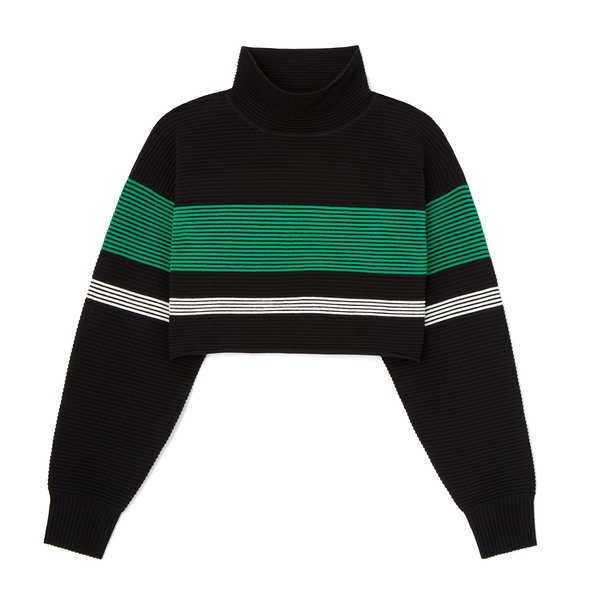 Nagnata Cropped Retro Rib Sweater
