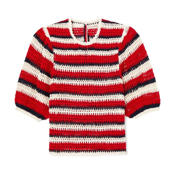 Ulla Johnson Amata Striped Knit Top