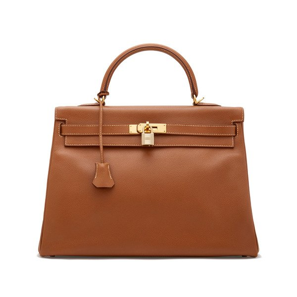 What Goes Around Comes Around Hermès Vintage Courchevel Kelly Bag, 35cm