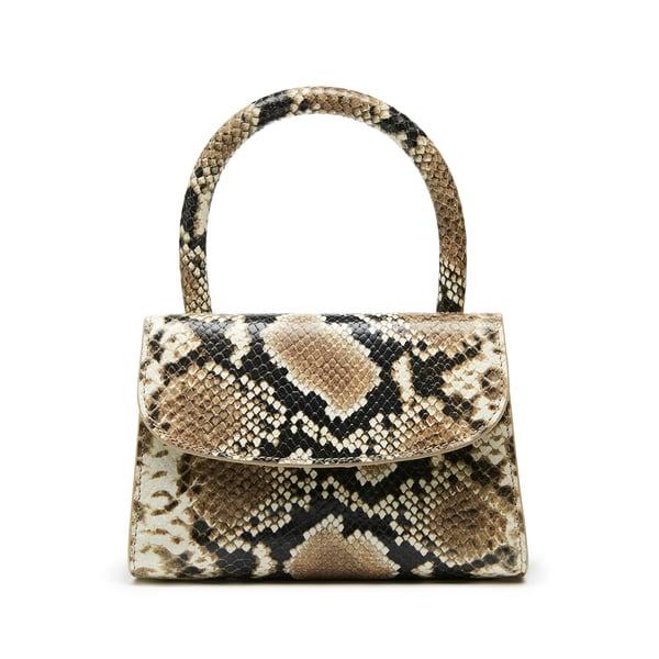 BY FAR Shoes Mini Snake Print Leather Handbag