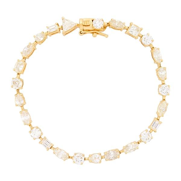 Shay Jewelry Mixed Diamond Tennis Bracelet