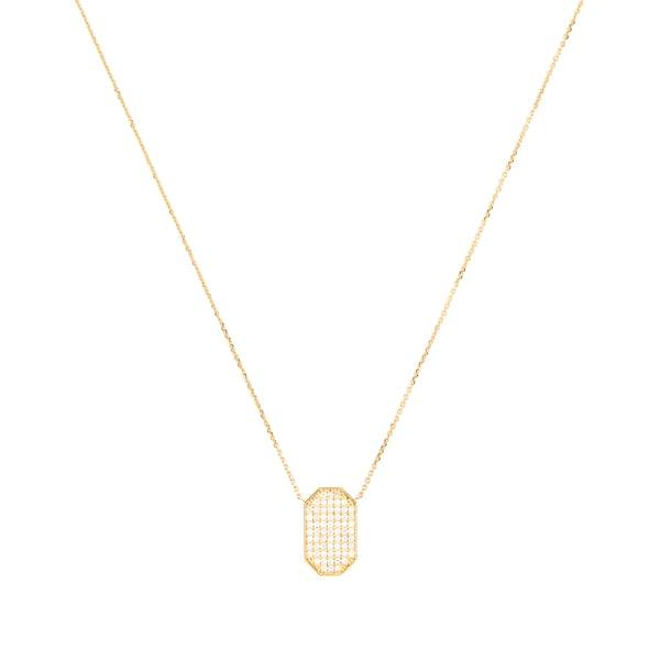 Ark Fine Jewelry Devi Shield Diamond Necklace