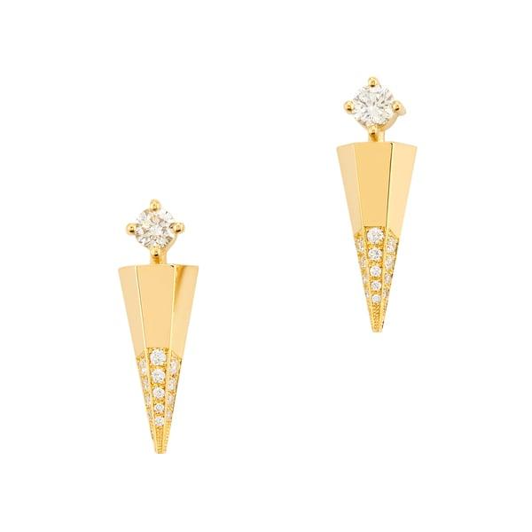 Ark Fine Jewelry Blooming Lotus Diamond Mini Dagger Earrings