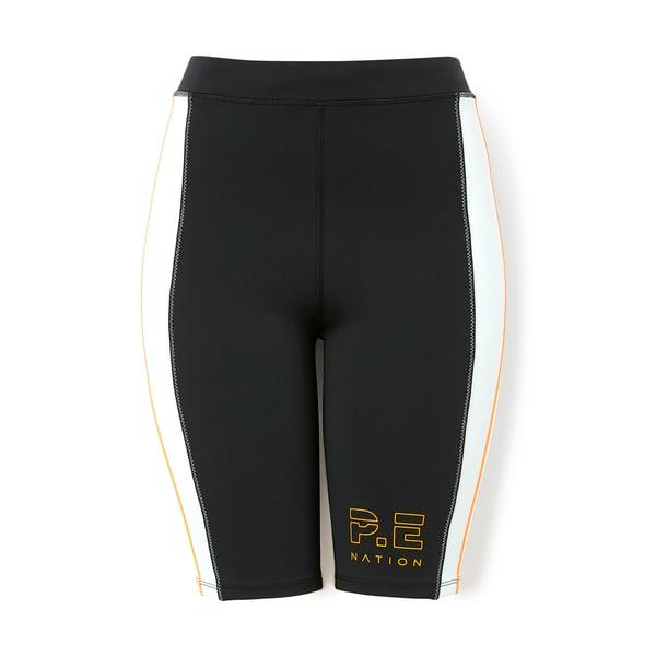 P.E. Nation Camber Striped Bike Shorts