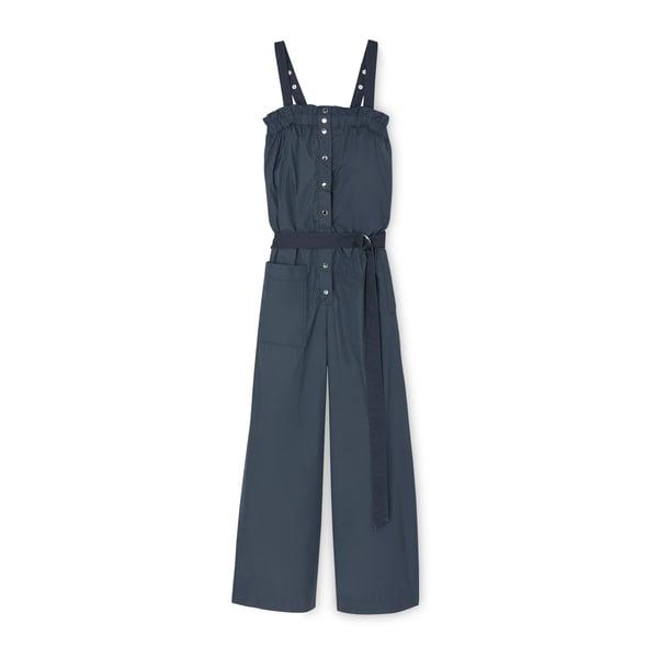 Tibi Nylon Strapless Jumpsuit