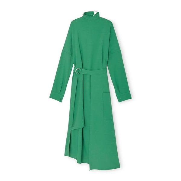 Tibi Chalky Drape Dress with Removable Apron