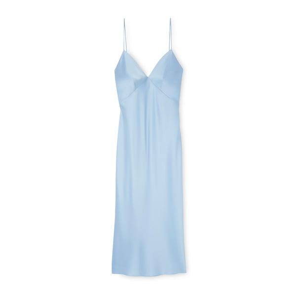 Olivia von Halle Issa Bias-cut Silk Slip Dress
