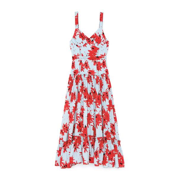 Proenza Schouler Maxi Printed Viscose Dress